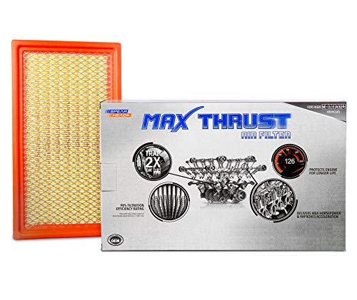 Spearhead Max Thrust Performance Engine Air Filter For All Mileage Vehicles - Increases Power & Improves Acceleration (MT-242)