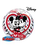 "Qualatex de Mickey y Minnie Mouse I LOVE YOU 22""burbuja globo"