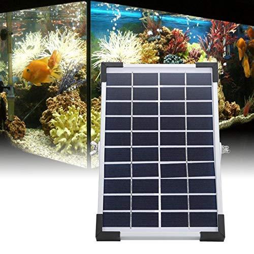 YAOHM 10V 5W Solarbetriebene Oxygenator Fisch-Aquarium-Teich-Wasser-Sauerstoff-Pump Luftpumpe BSV-AP006-Fisch-Behälter-Teich-Aquarium-Wasser-Luftpumpe