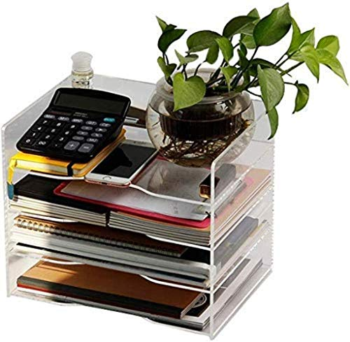 File Cabinets Desktop File Box Magazine Plexiglass File Divider Desk Supplies Storage Manager Transparent Color Home Office Furniture Storage Box