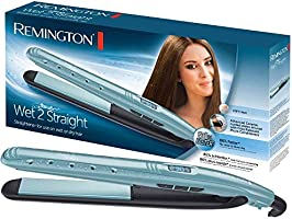Remington Wet 2 Straight Plancha de Pelo – Cerámica Avanzada, Cabello Seco y Húmedo, Digital, 10 Ajustes Temperatura,...