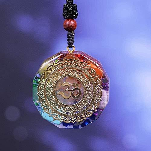LBBYMX Co.,ltd Necklace Orgonite Pendant Om Symbol Necklace Chakra Healing Energy Necklace Meditation Jewelry Handmade Professional Necklace