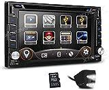 FGVBC Doppelter 2-DIN-6,2-Zoll-HD-Touchscreen-Autoradio-DVD-GPS-Navigations-Player mit...