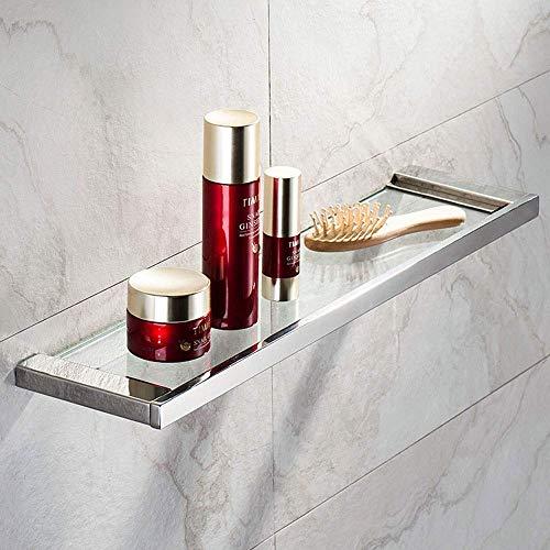Estante de cristal organizador de almacenamiento de baño estantes 8 mm de grosor de vidrio templado montaje en pared rectangular estante de ducha para almacenamiento de baño