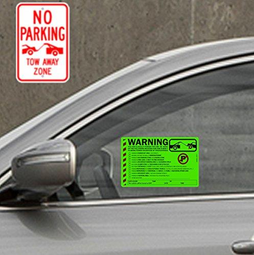 "50 Green Fluorescent MULTI-REASON Warning Stickers 8"" X 5"" Photo #3"