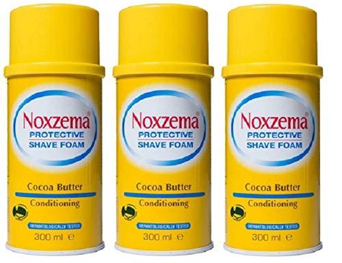 3x Noxzema Shaving foam Cream seife Rasierschaum Cocoa Butter 300ml