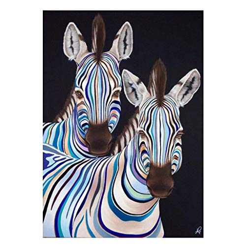 5D DIY Diamond Painting Kits for Adults Mosaic Pictures 2 Zebras Diamond Painting Drill Cross Stitch Kit Rhinestone Embroidery Paint by Number Diamond Pasted Art 30X40CM