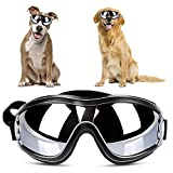 YOUTHINK Dog Goggles for Small/Medium Dog with Anti-UV Windproof Eye Protection Waterproof Sunglesses (Black)