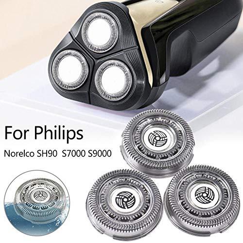 Fancylande Roterende messen met reservekop voor scheerapparaat 3 stuks, scheermes voor scheerapparaat, accessoires voor Philips Norelco elektrisch scheerapparaat compatibel met SH90 S7000 S9000 Usual
