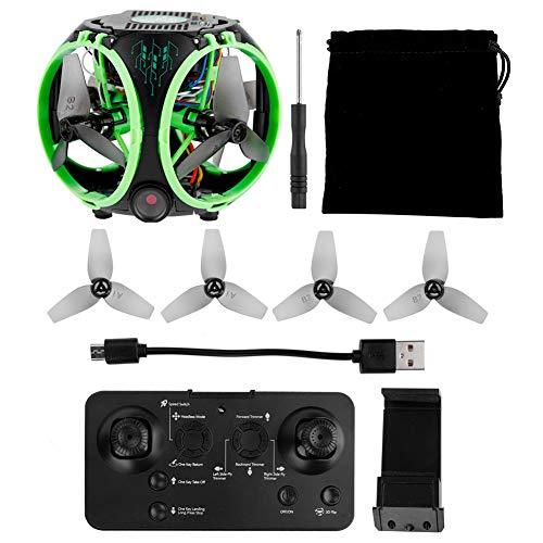 Quadcopter, 1PCS Kamera Drohne, Mini Faltbare 0,3MP Kamera RC Hubschrauber für Jungen Kinder Mädchen Erwachsene(Whole Machine Version-Green)