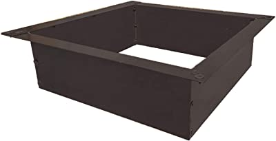 Simond Store Square Outdoor Fire Pit Ring 42 Iches Outside Diameter 36 Inches Inside Diameter, Portable Heavy Duty Fire Ring for Outdoor Wood Burning Fireplace Camping and Bonfire