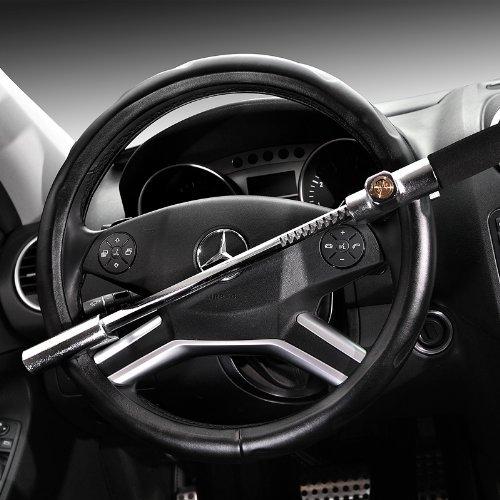Barra reforzada anti-rrobo para volante Bloqueador de volante Dispositivo antirrobo para seguridad de coche