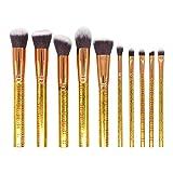 GONGFF Pinceles de Maquillaje 10Pcs Maquillaje de Belleza Cepillo de Rubor de mármol Pincel de Sombra de Ojos Pincel de Maquillaje Set al por Mayor