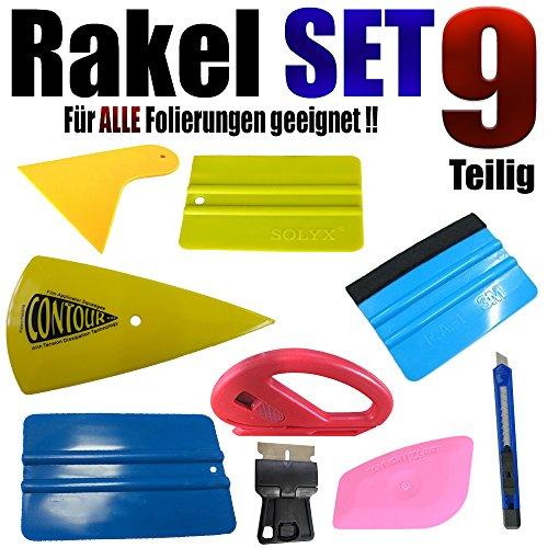 qili 9 Teilige Rakel Set Geeignet für Alle Folierung Arbeiten - Auto Folien - Aufkleber