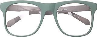 16e68d9224 Big Square Horn Rim Eyeglasses Nerd Spectacles Clear Lens Classic Geek  Glasses