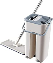 BTYAY Mop and Bucket System Mops Easy Rotating Dust Mops for Floor Cleaning ,Both Wet and Dry Double