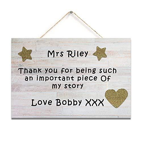 Placa de regalo para profesores de guardería, asistente de guardería, placa de preescolar, placa de agradecimiento con refranes