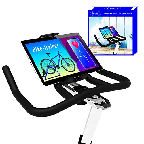 Soporte Tablet Bicicleta estatica Universal Compatible con Todos los tamaños de Tablets pc y manillares Soporte Tablet Bicicletas estaticas Bicicleta Spinning eliptica Indoor Bici estatica