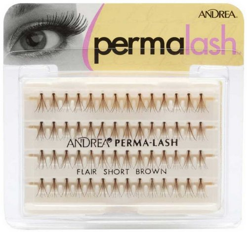 Andrea False Eyelashes Individual Lashes, Knotted Flares Short Brown