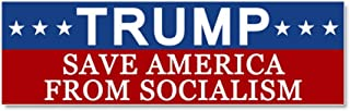 CafePress Save America from Socialism Car Magnet 10 x 3, Magnetic Bumper Sticker