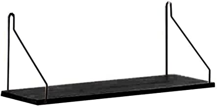 House of Quirk Metal Iron & Wooden Wall Shelf for Partition Board Bedroom Tv Wall Hanging Storage Shelf Rack - Black