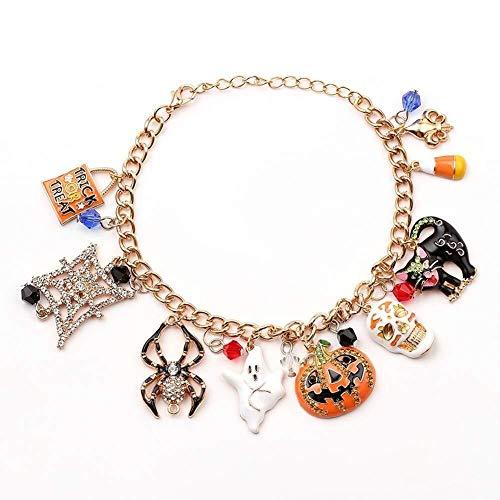 collar de Mujer pequeña joyería Diseñado for el Terror Calabaza de Halloween Espeluznante Colgante Pulsera Regalo Pulsera