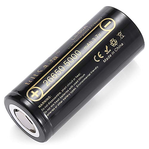 26650 Batterys Rechargeable Batteries 5000 Mah Large Capacity 3.7V Power Strong Light Flashlight Batteries,8pcs