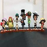 CXNY 7 unids/Set One Piece Sabo Figura de acción PVC colección Figuras Juguetes brinquedos coleccionables