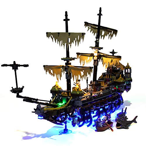 HZQM LED Light Set for Pirates of The Caribbean Silent Mary  Compatible with Lego 71042 Building Kit Lego Set Not Included