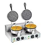 Royal Catering - RCWM-2600-R - Gofrera - 2 x 1.300 Watt - redonda