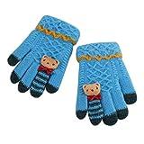 Kinder Handschuhe Fäustlinge Doppelt Warm Strickhandschuhe Fingerhandschuhe Winterhandschuh Gloves, 4-9 Jahre alt, Herbst Winter Outdoor-Aktivitäten Bedarf