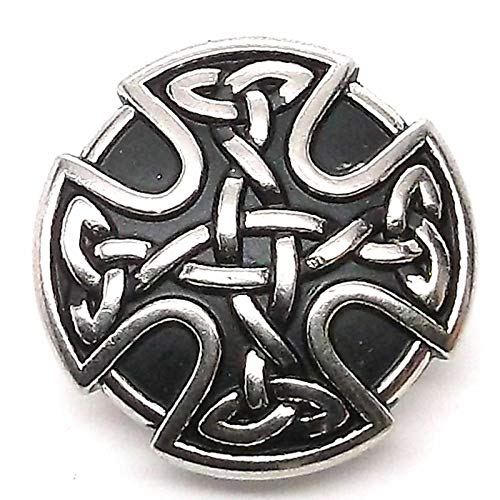 Conchos for Belt - Leather Fastener - Celtic Shield Armour Decorative Snap Set Nickel 1' 1265-63