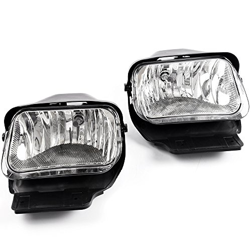 Fog Lights Replacement For Chevy Silverado Avalanche 03-06 2003 2004 2005 2006 Bumper Driving Lamps Left+Right Replacement Pair Clear Lens
