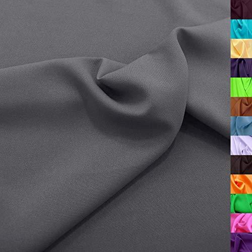TOLKO Modestoff | Dekostoff universal Stoff zum Nähen Dekorieren | Blickdicht, knitterarm | 150cm breit Meterware (Grau) Bekleidungsstoffe Dekostoffe Vorhangstoffe Nähstoffe Basteln Patchwork Deko