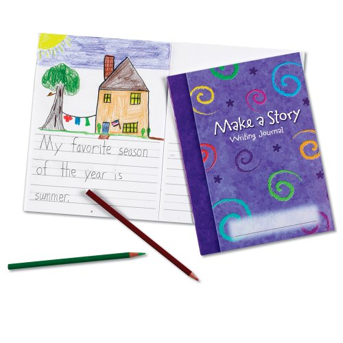 Learning Resources Make a Story Writing Journal, Creative Writing, Early Handwriting Help, Journals for Kids, Kids Notebooks, Set of 10, Ages 5+