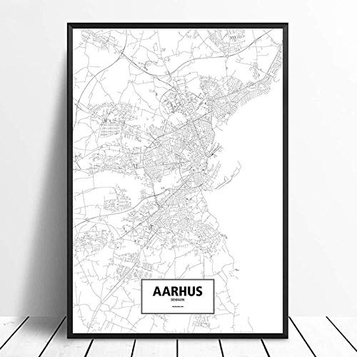 Canvas prints Painting Posters Amsterdam Black White Custom World City Map Poster Pictures Print On Canvas Nordic Style Wall Art Canvas Paintings For Home Decor No Frame