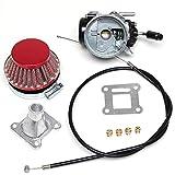 Tuning 14mm Faston Vernier Carburador De Carreras Con 4boquillas, cable del acelerador y filtro de aire para mini Pocket Bike
