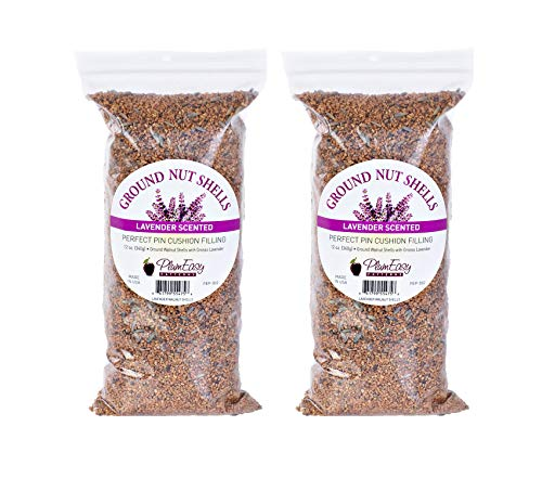 Finely Ground Walnut Nut Shells Perfect Pincushion Filling, DIY Pincushion, Lavender Scented, 2 packs of 12 oz each