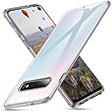Whew Crystal Clear Samsung Galaxy S10 Hülle, [Transparent Anti-Gelb] Hard PC und Soft Silikon Ultra Hybrid Samsung Galaxy S10 Handyhülle Durchsichtig Silikon Schutzhülle Slim Hülle