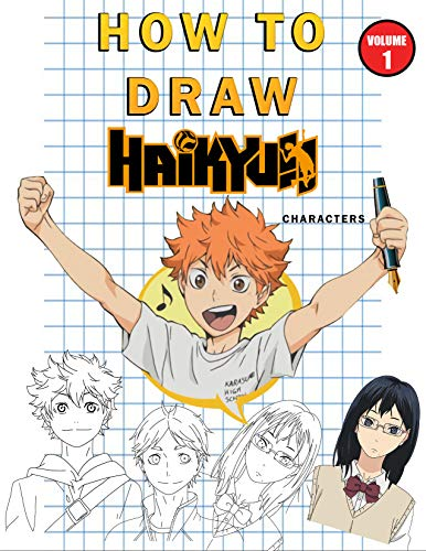 How to Draw haikyuu characters : Step by Step : Vol 1 (English Edition)