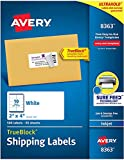 Oferta Avery Etiquetas de endereço de entrega, impressoras a jato de tinta, 500 etiquetas, etiquetas 2 x 4, adesivo permanente, TrueBlock (8363), branco por R$ 218.33