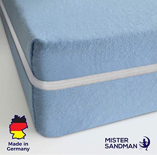 Mister Sandman Matratze, Härtegrad H2 H3, Komfortschaum Kern, Gästematratze, ÖKO-TEX® waschbar (100 x 200 cm, Blau)
