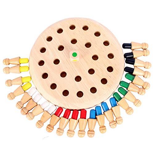 Queta Memory Schach Holz Gedächtnis Schach Kinder hölzernes Schachbrett Spielzeug Memory Match Stick Schach Schachspiel Lernspielzeug ab 2 3 Jahre Family Brettspiele