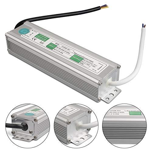 LED Trafo 12V 50W 4.16A IP67,geeignet für LED Stripes und Leuchtmittel,Upgrade Transformator Netzteil Driver 230V auf DC12V Wasserdicht
