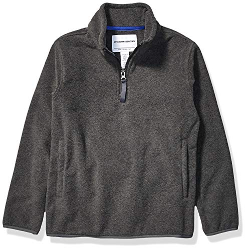 Amazon Essentials Jungen Quarter-Zip Polar Fleece Jacket, grau, X-Small