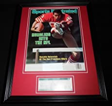 Renaldo Nehemiah Signed Framed Sports Illustrated Magazine Cover Display 49ers
