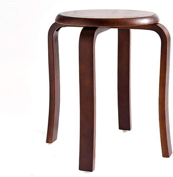 Carl Artbay 凳子木制凳子家用叠曲凳子餐桌梳妆台防滑静音垫彩色胡桃