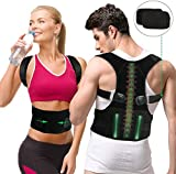 gifort correttore di postura, postura schiena, schiena supporto per schiena, collo e spalle, traspirante regolabile postura supporto per uomo e donna (style 1-m) (l size)