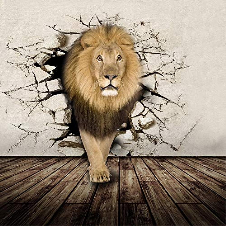 precios al por mayor Papel tapiz fotográfico personalizado 3D Mural Animal Realista Rhino Rhino Rhino León Elefantes No tejido Dormitorio Mural de la parojo Decoración para el hogar Papel tapiz 3D cchpfcc-200X140 CM  primera vez respuesta