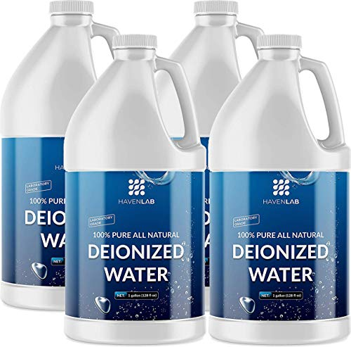 HAVENLAB Deionized Water - Demineralized (4 Gallons) Purification Softener for Washing & Cleaning, Automotive Battery Cooling, Laboratory Equipment, Watering Plants, Agua Desionizada Desmineralizada